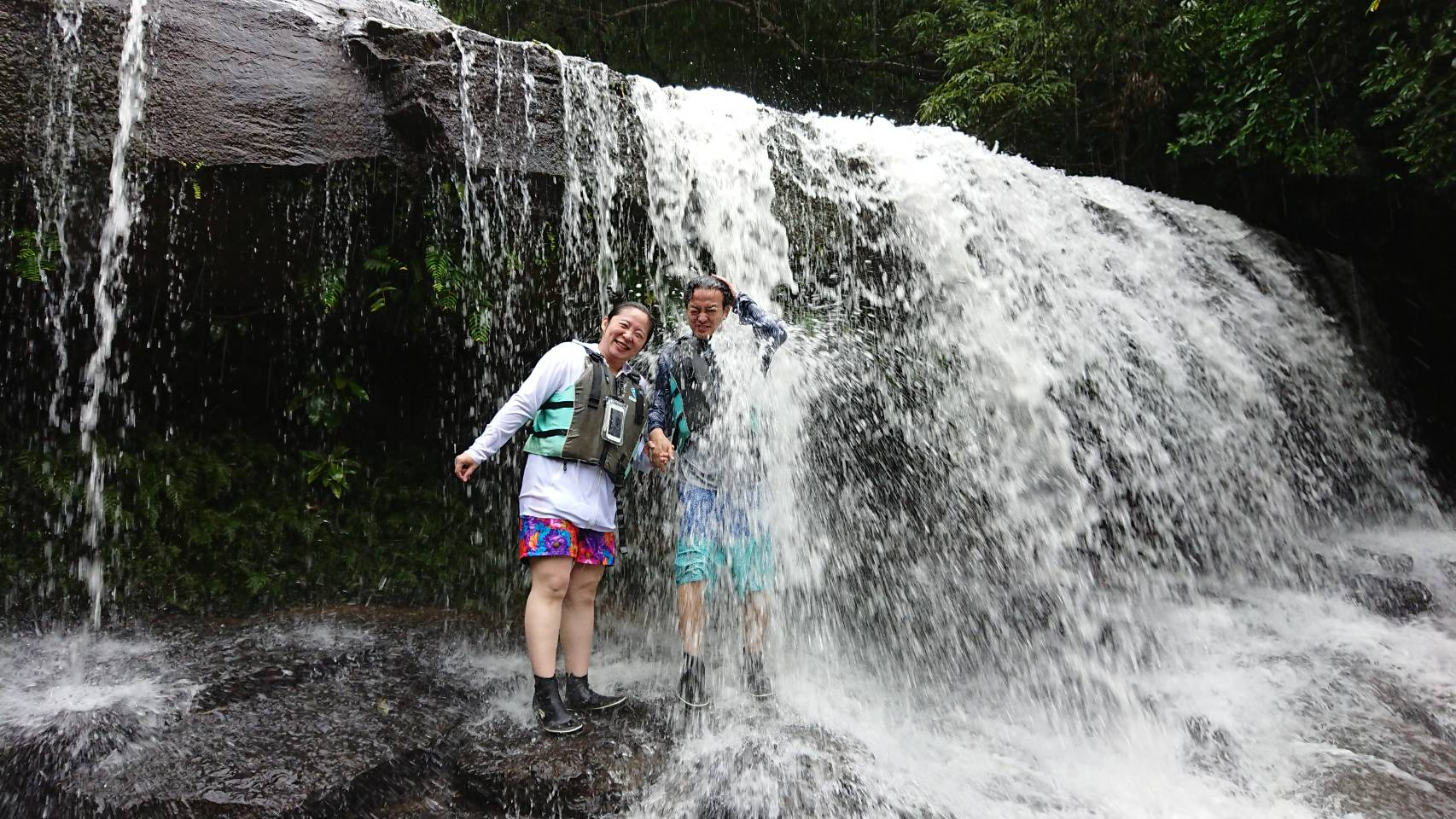 雨中のジャングル探検♪